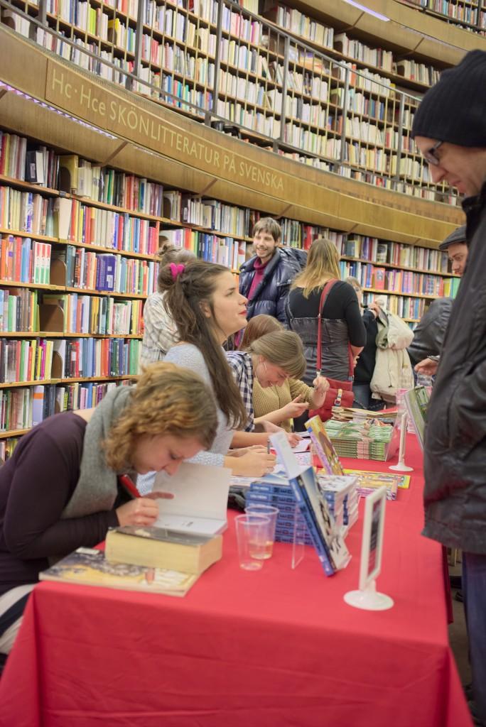 Debutbar Serier 2013 på Stockholms stadsbibliotek.